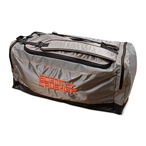 "Scent Crusher Ozone Gear Bag - Eliminates Odors Before and After The Hunt, Quickly Destroys Bacteria Causing Odors, Airport/TSA Compliant, Maintenance-Free, Two-Year Warranty, 28"" L x 10.5"" W x 12"