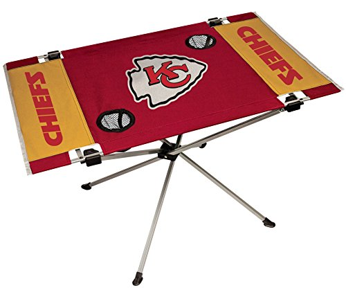 NFL Portable Folding Endzone Table, 31.5 in x 20.7 in x 19 in, Kansas City Chiefs