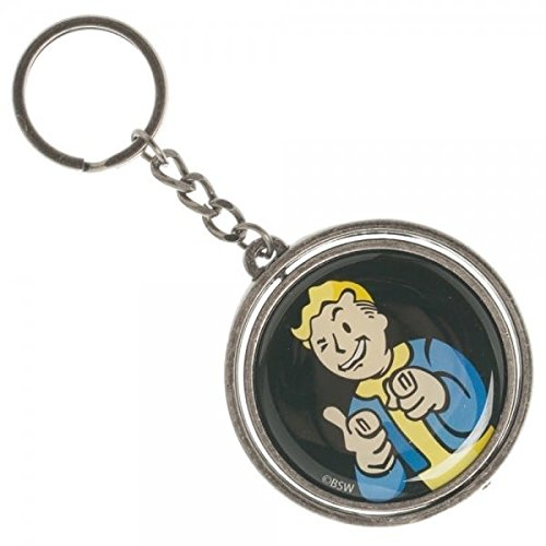 Fallout 4 Vault Boy Nuka Cola Spinner Keychain