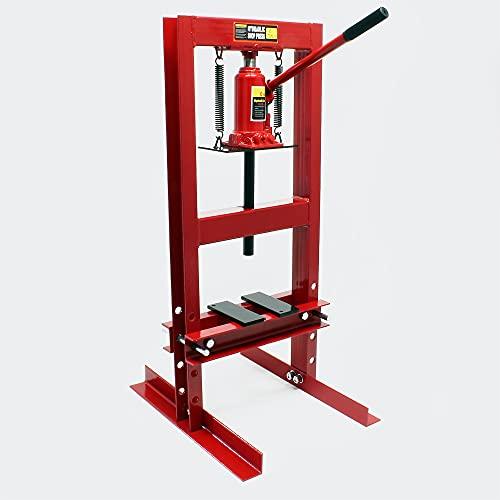 6T Prensa hidráulica Prensa taller Fuerza presión Estampar Doblar Prensar Piezas Industria Mecánica