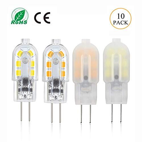 Lichtbron LED G4 lamp parels lamp-lichtbron, laagspanning AC/DC 12 V, startpagina bedrijfsdecoratie kroonluchter wandlamp tafellamp - 10 stuks [energieklasse A +]