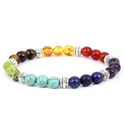 Lava Chakra Bracelet, Meditation Healing Yoga Braided Rope Bead Bracelet (1103)