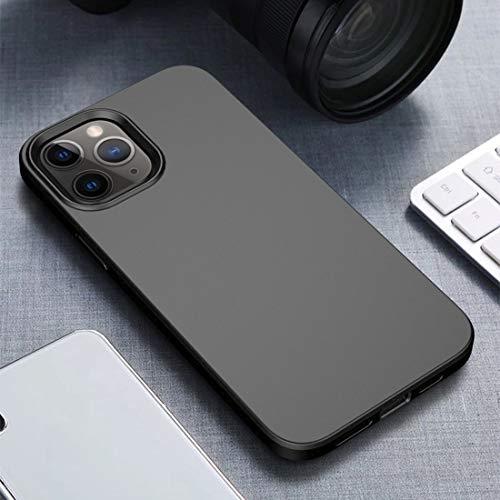 CAPOOK For iPhone 12 Caja Protectora de TPU Prueba de Golpes de rastrojo Corporal + Pro Series MAX Estrellada Lentejuelas de la Caja del teléfono (Color : Black)