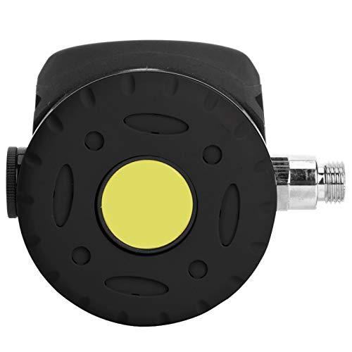 Aoutecen Equipo de Buceo Durable Válvula de respiración de Buceo ABS de 3 Colores para bucear(Black)