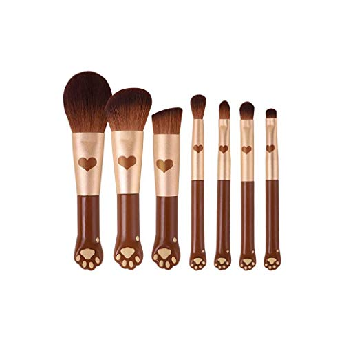 GCX- 7 pièces de Maquillage de Brosse for Les débutants étudiants Doux Set de beauté Brosse Professionnelle Ensemble Complet de Brosses Beau