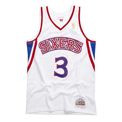 Mitchell & Ness Allen Iverson # 3 Philadelphia 76ers 1996-97 Swingman NBA - Maglia bianca