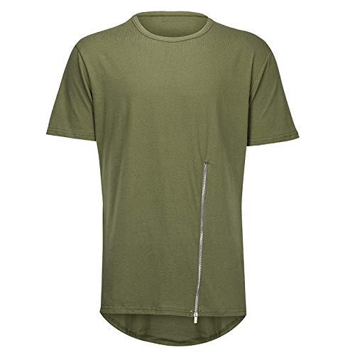 DONNU Camiseta De Secado RáPido Camiseta con Cuello Redondo Camiseta Interior Manga Larga Extragrande