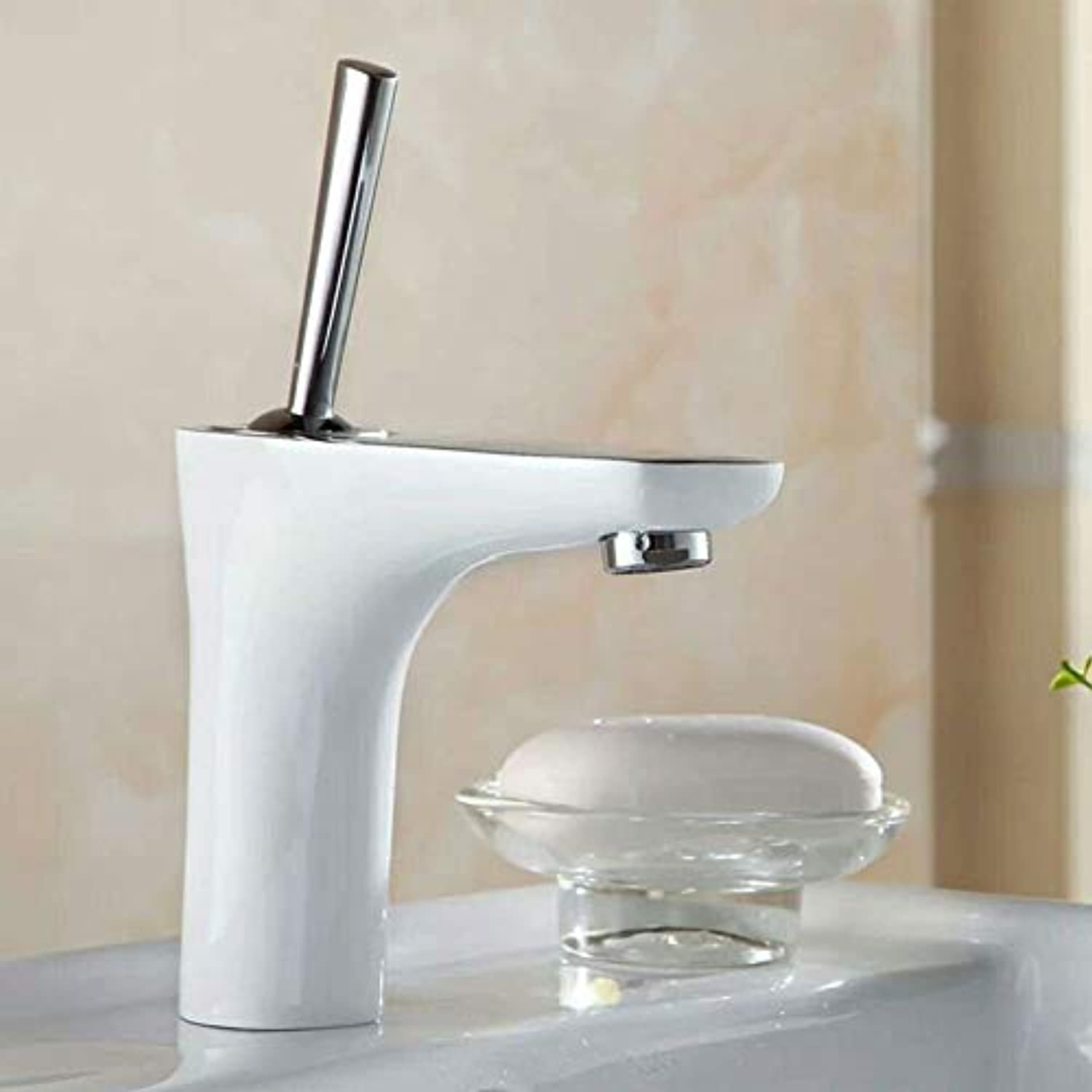 J&LILI Alle Kupferbecken-Faucet, Single hot and Cold Mixer Faucet, Bad Faucet-,b