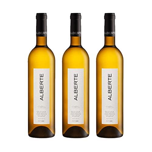 Vino blanco Alberte de 75 cl - D.O. Ribeiro - Bodegas Nairoa (Pack de 3 botellas)