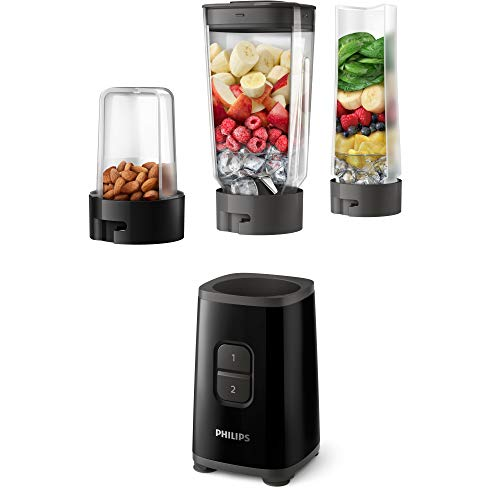 Philips HR2603/90 Mini-blender, 350 W, met drinkfles en hakmolen