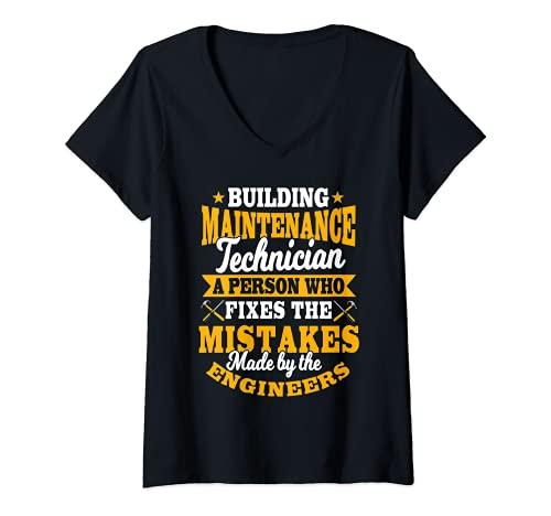 Mujer Manutención Hombre Regalos Divertidos Errores De Fijación Por Engineers Camiseta Cuello V