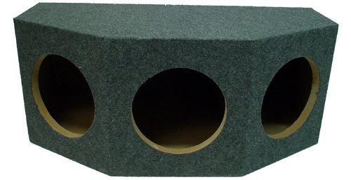 "Car Audio Triple 10"" Sealed Subwoofer Rear Angle 3 Sub Box Stereo Enclosure"