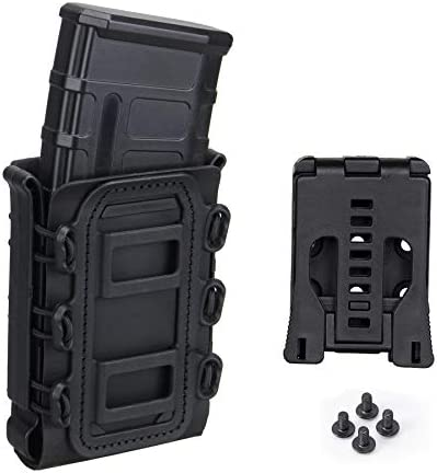 IDOGEAR Mag Pouch 5 56 7 62mm Rifle Magazine Pouches Molle with Adjustable Belt Clip Set Softshell product image