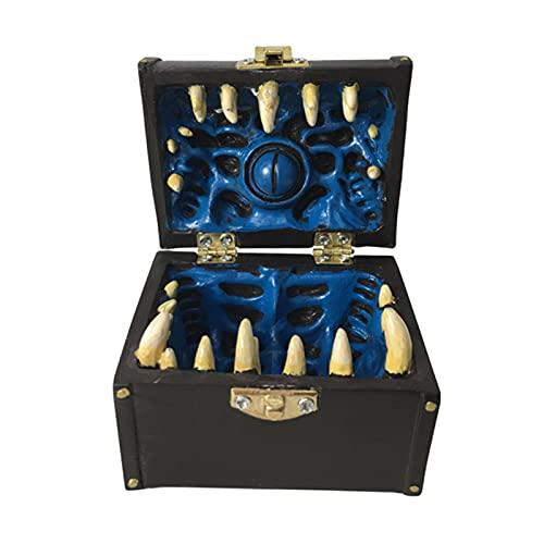 Wilitto Decoración de Halloween Adornos Joyero Organizador para collar, pendientes, pulseras, anillos, caja organizadora de Halloween Decoración para mujeres azul