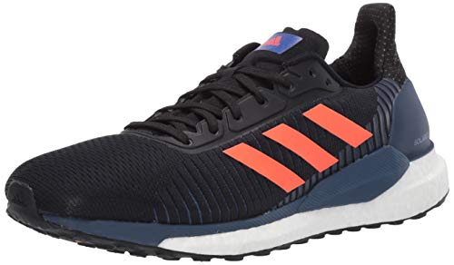 adidas Solar Glide St 19 M Zapatillas de correr para hombre, Negro (Negro, rojo solar, índigo.), 41.5 EU