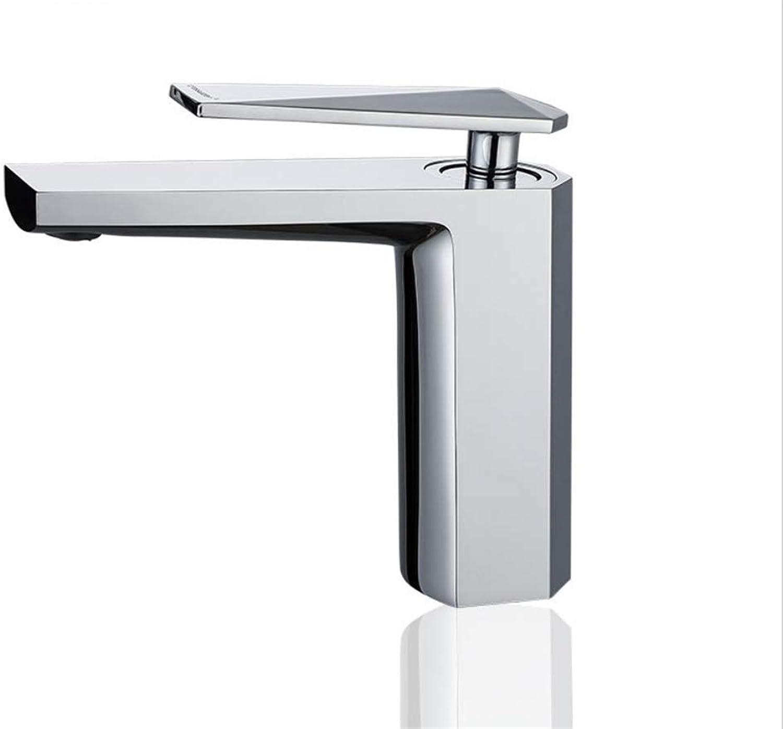 Basin Mixer Tap Bath Fixtures Wash Basinsinkkitchen All Copper Washbasin, Washbasin, Faucet, Single Hole, Single Joint, Cold and Hot Hand Washing Basin.