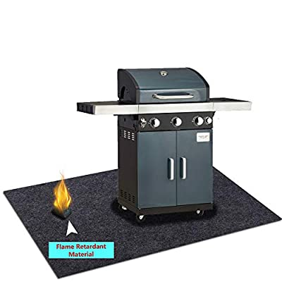 Cibicon Under Grill Gear Flame Retardant Mats,Rugs,BBQ Grilling for Gas,Absorbing Oil Pads,Reusable Durable Washable Floor mat Protect Decks and patios from Grease Splatter and Other Messes