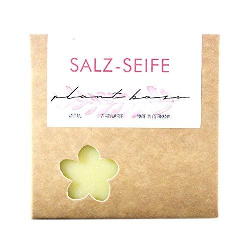 Zero Waste♻️ Dusch-Salzseife I 100% vegane Naturkosmetik Seife | Handgesiedete Naturseife | Für Allergiker/-innen und Problemhaut geeignet I Hilft bei Hautunreinheiten, Pickeln und sogar Neurodermitis