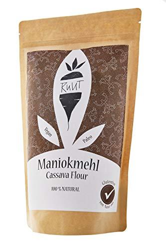 Ruut Maniokmehl / 100% Natürlich / Paleo / Vegan / Glutenfreies Mehl / Nussfrei Backen / Gesundes Brot Backen / Getreidefrei / Autoimmun Ernährung (AIP) / low-FODMAP / Ohne Zusätze / 1000g