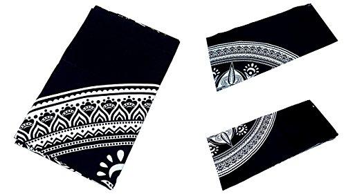 Grande Ambe Premium sábana sábana cama de ropa de cama 100% algodón 210x 230cm blanco y negro Ornament elegante nº a