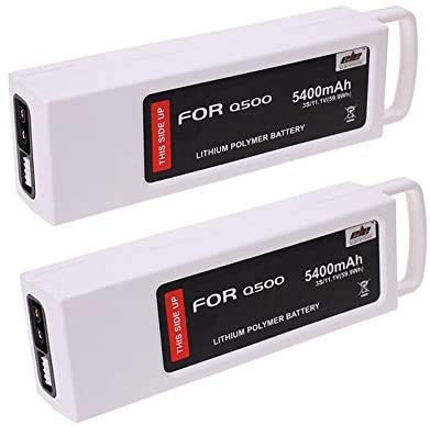 3S 5400mAh 11.1V 5C LiPO Replacement Batteries Compatible with Yuneec Q500 Q500+ Q500 4K Typhoon G RC Quadcopter (2 Pack)