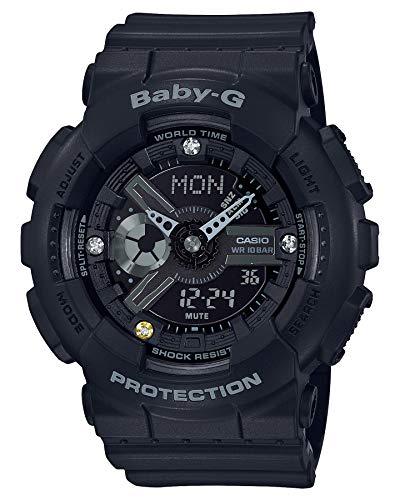 Casio Baby-G BA-135DD-1ADR Reloj digital de cuarzo negro de resina para mujer
