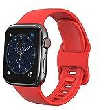 TopPerfekt - Correa compatible con Apple iWatch SE/6/5/4/3/2/1, en silicona suave, repuesto para 38mm, 42mm, 40mm y 44mm, rojo, 42/44mm
