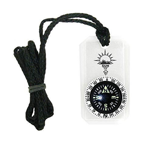 Sun Company MiniComp II - Mini Orienteering Compass with Rotating Bezel | Easy-to-Read Zipper Pull Compass for Jacket, Parka, or Pack