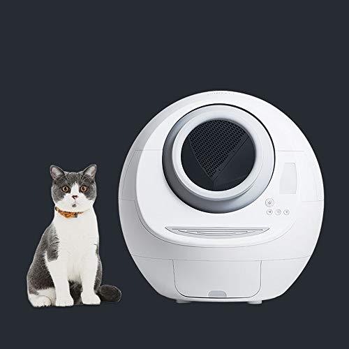 Xinxie1 Power Pet Katzentoilette Cat Deodorant Filter automatische Toilette Trainingssystem geschlossen Katzentoilette Toilette großen Haustier-Produkte Training Kit Selbst Bedpan Reinigung