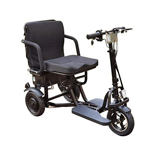 JHKGY Folding Electric Mobility Scooter,Scooter Mobility,3 Wheel Lightweight Portable Power Travel Scooters -Elderly/Disabled/Outdoor Travel Electric Scooter