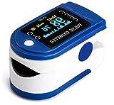 AUA Pulsioxímetro Oxímetro de Dedo Medidor Digital Profesional Portátil Oxímetro de Pulso con SPO2 oxígeno en la Sangre y Monitor de Ritmo cardíaco Adecuado para el Hogar, Fitness y Deportes Extremos