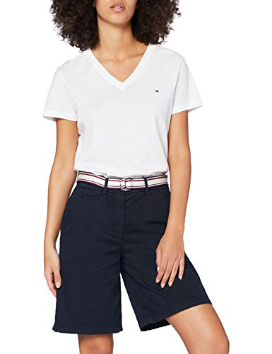 Tommy Hilfiger Damen GMD Cotton Tencel Bermuda Slim Jeans, Blau (Desert Sky Dw5), 42 (Herstellergröße: 44)