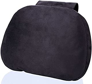 EXCEL LIFE Soft Auto Car Neck Pillow - Plush Headrest Support Cushion for Pain Relief - Black