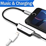 Headphone Adapter for iPhone 8/8Plus 7/7Plus X 10 XS Female Earbud Adapter Cable Aux Audio Head…