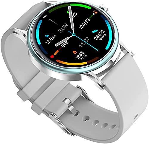 Smart Watch Watches Fitness Tracker Blood Pressure Monitor Blood Oxygen Meter Heart Rate Monitor IP68 Waterproof Smartwatch for Men Women-Gray