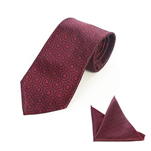 XIAMAZ Neu Herren Krawatten Set Classic Krawatte Einstecktuch Set Plaid Farbverlauf Unique Design Krawatte Herren Taschentuch Set Hochzeit
