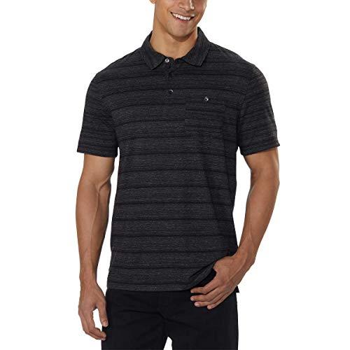 English Laundry Mens Short Sleeve Polo (Black, Medium)