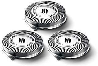 Testine di ricambio Norelco SH30/52 per rasoi Philips Series 1000, 2000, 3000 e S738 Click and Style, lame di ricambio, solleva e taglia, non tirano i capelli, facile da installare