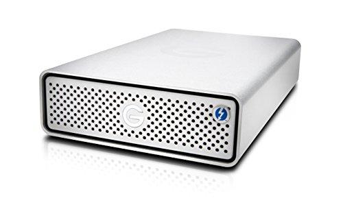 G-Technology 10TB G-DRIVE with Thunderbolt 3 and USB-C Desktop External Hard Drive, Silver – 0G05378-1