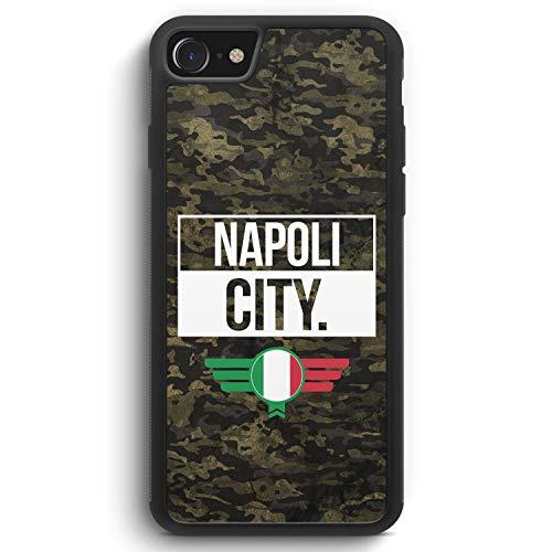 Napoli City Camouflage Italien - Silikon Hülle für iPhone 7 - Motiv Design Italienisch Italy Italia Neapel - Cover Handyhülle Schutzhülle Case Schale