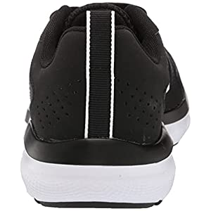 Under Armour womens Charged Assert 9 Running Shoe, Black/White, 7.5 US