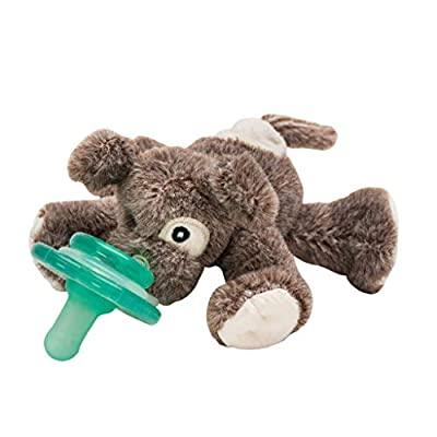 Nookums Paci-Plushies Buddies - Puppy Pacifier Holder - Adapts to Name Brand Pacifiers, Suitable for All Ages, Plush Toy Includes Detachable Pacifier