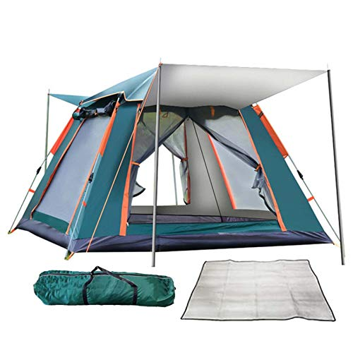QYY Tenda da Campeggio Pop up istantanea 3-4 Posti Automatica Portatile Impermeabile Antivento Tende per Zaino in Spalla per Viaggi di Coppia, CampeggioGreen