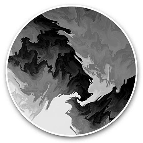 Impresionantes pegatinas de vinilo (juego de 2) 20 cm (bw) – Pintura de tinta colorida de los años 80 calcomanías de arte divertidas para portátiles, tabletas, equipaje, reserva de chatarras, neveras, regalo genial #36431