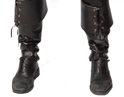 Herren Stiefel-Stulpen in Leder-Optik GUI Boot Cover für Piraten Steampunk Krieger