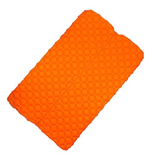 SRXSMGS Esterillas Alemán Ultraligero al Aire Libre Impermeable a Prueba de Humedad a Prueba de Dormir Almohadilla para Acampar compacta y cojín de Aire Ligero (Color : 2P Orange)