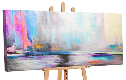 Oferta hasta 30.01 Art   cuadros acrílicos de luz del norte   cuadros pintados a mano   115 x 50 cm   cuadro acrílico   arte moderno   lienzo   ejemplar único   gris