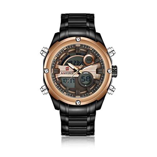 xisnhis schöne Uhren naviforce9088 Stahl gürtel wasserdicht männer doppel - Display Quarz - Uhr