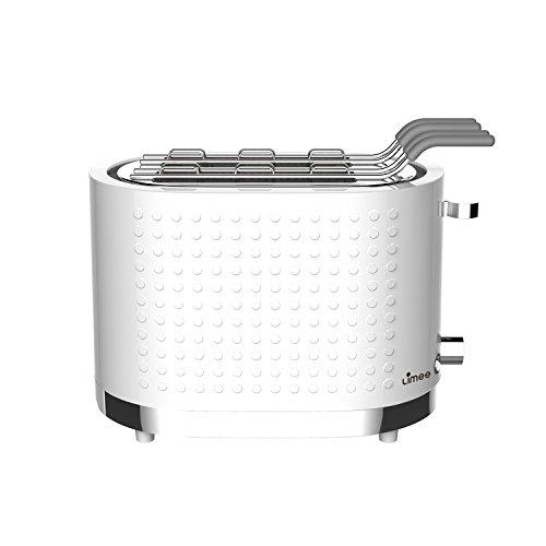 Limee Toaster 1000W 2 Slice Tostapane con gabbia Sandwich - 2 anni di garanzia - scongelare, riscaldare e annullare Frazioni