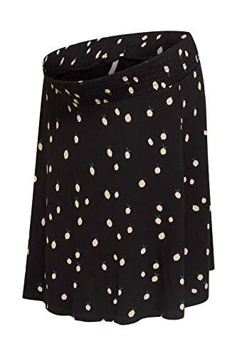 ESPRIT Maternity Damen Skirt Jersey Utb AOP Rock, Schwarz (Black 001), 44 (Herstellergröße: XX-Large)